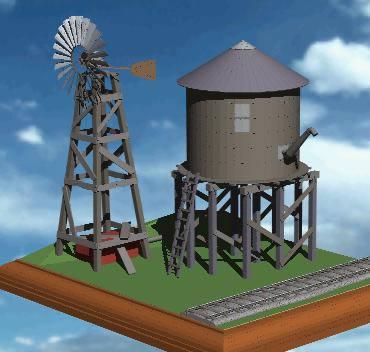 Planos de Reservorio de agua 3d, en Instalaciones de riego – Granjas e inst. agropecuarias