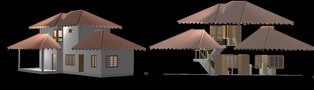 Planos de Residencia unifamiliar en 3d, en Vivienda unifamiliar 3d – Proyectos