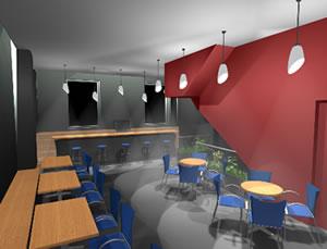 imagen Restaurant en 3d, en Bares y restaurants - Muebles equipamiento
