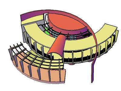 Planos de Restaurante 3d, en Casinos hoteles y restaurantes – Proyectos