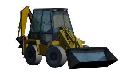 Retro escavadora con texturas, en Maquinaria – Obradores