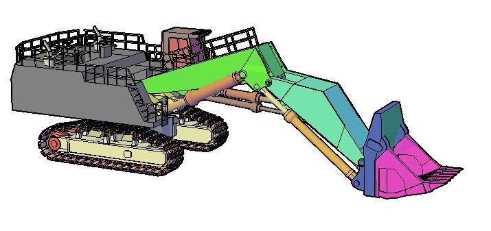 Retro escavadora  minera, en Camiones – Medios de transporte