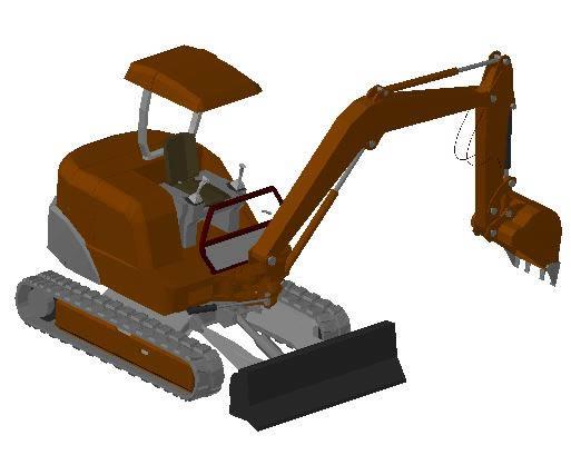 Planos de Retroexcavadora 3d, en Camiones – Medios de transporte