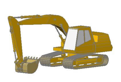 Planos de Retroexcavadora 3d, en Maquinaria – Obradores