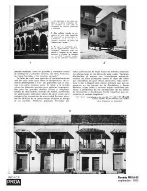 Planos de Revista proa 92 – arquitectura colonial en colombia – septiembre 1955, en Monografías – Historia