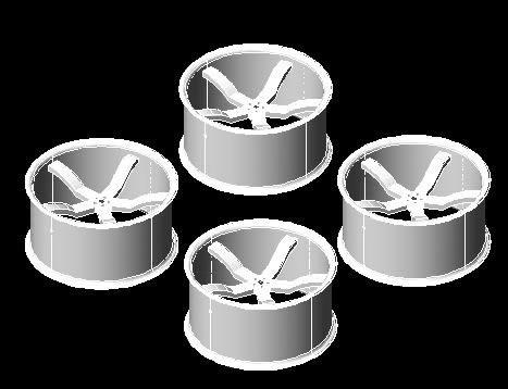 Planos de Rines deportivos para auto, en Automóviles en 3d – Medios de transporte