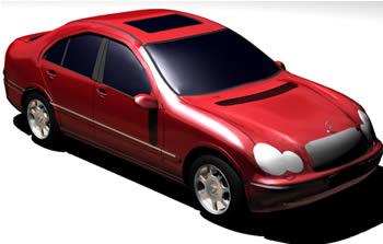 imagen Roadster en 3d con materiales aplicados, en Automóviles en 3d - Medios de transporte