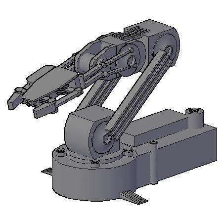 Planos de Robot 3d, en Maquinaria – proyectos varios – Máquinas instalaciones