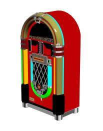 Rockola clasica 3d, en Objetos varios – Muebles equipamiento