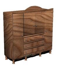 Planos de Ropero 3d, en Dormitorios – Muebles equipamiento