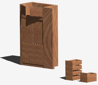 Planos de Ropero en 3d, en Dormitorios – Muebles equipamiento
