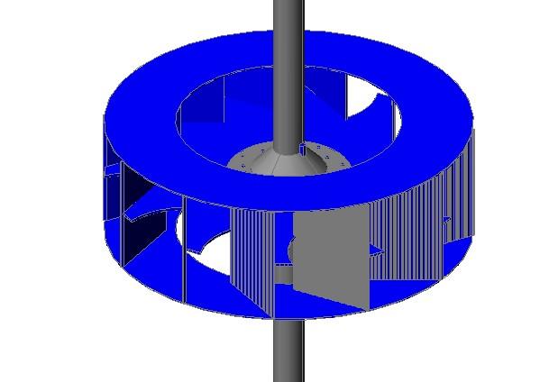 imagen Rotor para ventilador primário, en Calefacción - Climatización