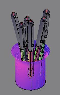 Planos de Rotuladores modelizados 3d, en Ejercicios varios – Dibujando con autocad
