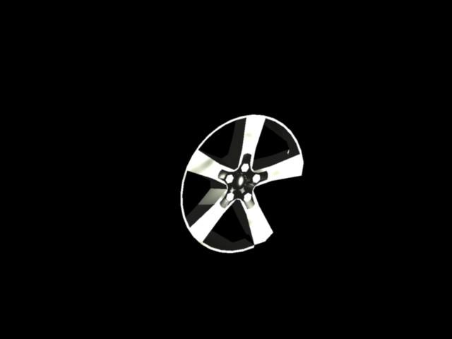 imagen Rueda coche 3d, en Automóviles en 3d - Medios de transporte