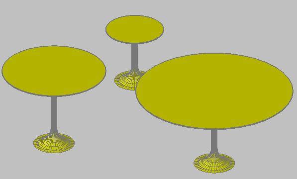 imagen Saarinen tables, en Mesas y juegos de comedor 3d - Muebles equipamiento
