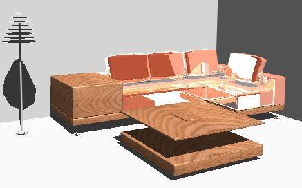 Planos de Sala 3d, en Salas de estar y tv – Muebles equipamiento