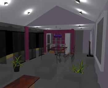 Sala comedor 3d, en Comedores – Proyectos
