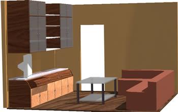 imagen Sala de estar en 3d, en Mesas y juegos de comedor 3d - Muebles equipamiento