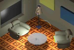 Planos de Sala de estar, en Mesas y juegos de comedor 3d – Muebles equipamiento