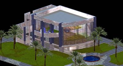Planos de Sala de exposiciones en 3d, en Centros culturales salas de exposición museos y stands – Proyectos