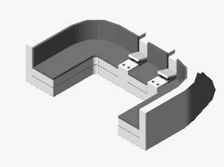 Planos de Sala modular, en Sillones 3d – Muebles equipamiento