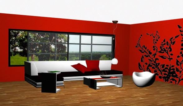 Salon 3d, en Salas de estar y tv – Muebles equipamiento