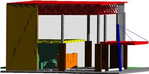 Planos de Salón de exposición, en Comercios varios – Proyectos