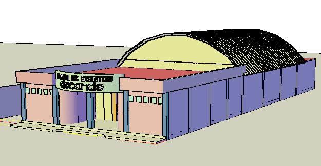 Planos de Salon de fiestas 3d  ., en Comercios varios – Proyectos