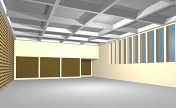 Salon de usos multiples 3d, en Centros comunitarios – Proyectos