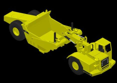 Planos de Scraper cat 3d, en Maquinaria – Obradores