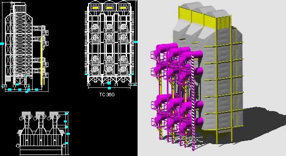 Planos de Secadora tc 360 3d, en Construcciones especiales – Granjas e inst. agropecuarias