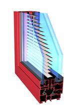 imagen Seccion 3d ventana - triple vidrio y cortina americana interior, en Ventanas 3d - Aberturas