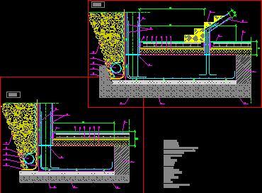 Planos de Sección zapata muro, en Cimentaciones – Detalles constructivos