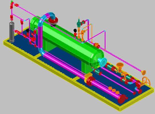 Planos de Separador de gas natural, en Gas y combustibles – Infraestructura