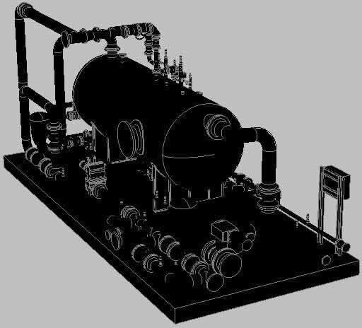 imagen Separador de produccion, en Equipos de bombeo - Máquinas instalaciones