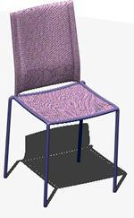 Planos de Silla 3d con materiales aplicados – silla_marry, en Sillas 3d – Muebles equipamiento