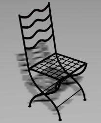 imagen Silla 3d, en Sillas 3d - Muebles equipamiento