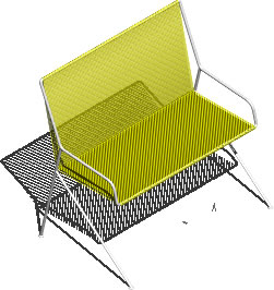 imagen Silla 3d ia  bgp - con materiales aplicados, en Sillas 3d - Muebles equipamiento