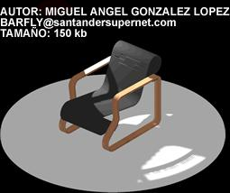 imagen Silla a alto, en Sillas 3d - Muebles equipamiento