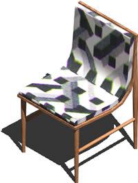 Planos de Silla años 60 3d con materiales aplicados, en Sillas 3d – Muebles equipamiento