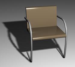 Silla brno, en Sillas 3d – Muebles equipamiento