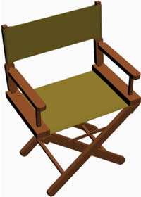 imagen Silla camerino 3d, en Sillas 3d - Muebles equipamiento