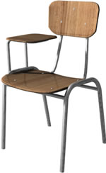 Silla de formalita con paleta 3d, en Educación – Muebles equipamiento