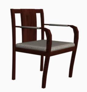 Silla de madera 3d, en Sillas 3d – Muebles equipamiento