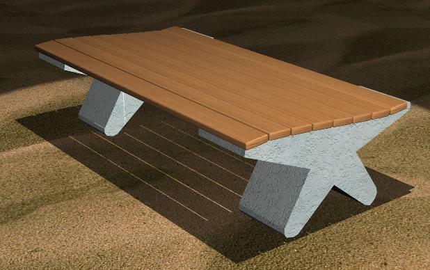 imagen Silla de plaza, en Sillas 3d - Muebles equipamiento