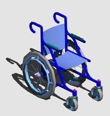 Planos de Silla de ruedas 3d, en El automóvil y discapacitados – Discapacitados