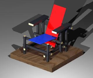 Planos de Silla de stijl 3d, en Sillones 3d – Muebles equipamiento