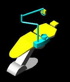 Silla dentista 3d, en Ejercicios varios – Dibujando con autocad