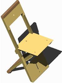 Planos de Silla diva amarilla 3d con materiales aplicados, en Sillas 3d – Muebles equipamiento