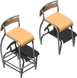 imagen Silla dollyhocker 3d, en Sillas 3d - Muebles equipamiento